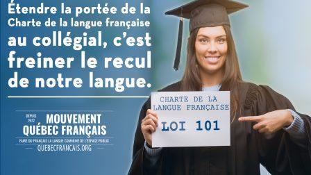 Étendre la portée de la Charte de la langue française au collégial constitue sans conteste une mesure indispensable pour freiner le recul de notre langue