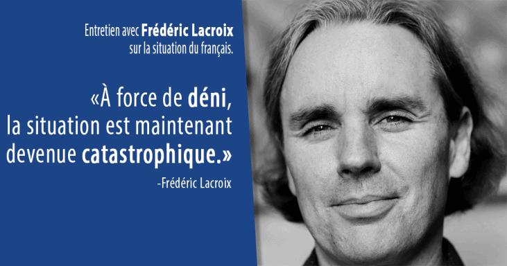 Entretien avec Frédéric Lacroix