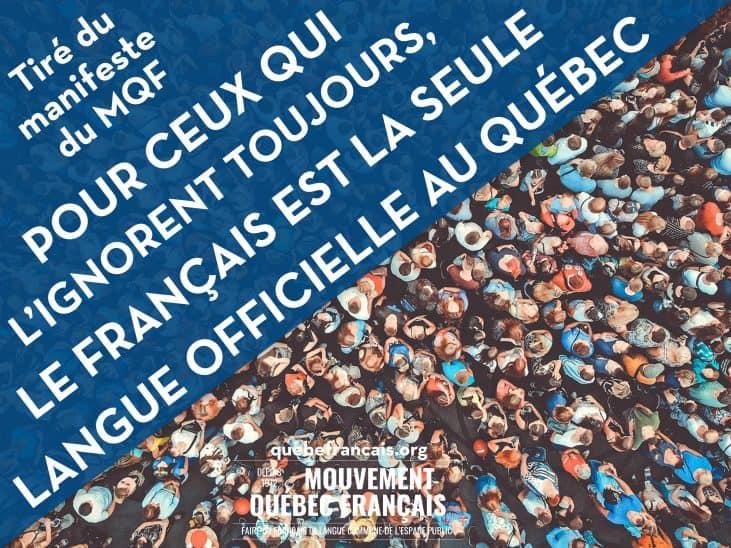 Le français est la langue publique commune