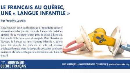 Le français langue infantile 1