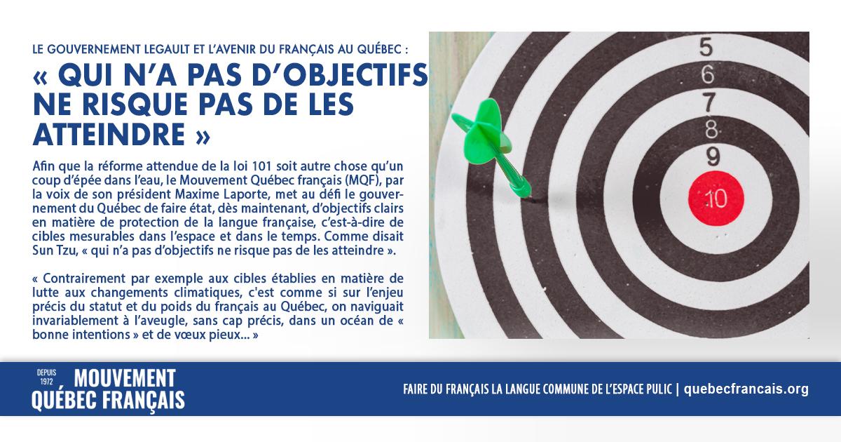 Le gouvernement Legault et lavenir du français au Québec