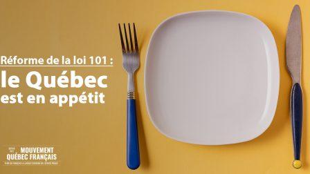 Réforme de la loi 101 le MQF est en appétit copie
