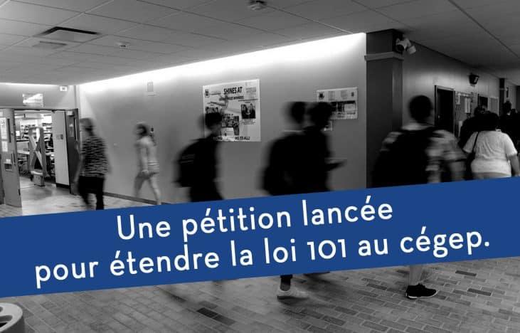 Thumbnail Une pétition lancée pour étendre la loi 101 au cégep